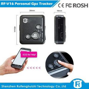 China Very small size mobile phone personal gps tracker senior phone gps track phone number RF-V16 on sale
