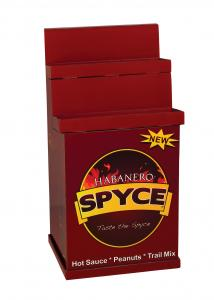 China Corrugated Durable Cardboard Display Stands Color Printing for Displaying Spicy Sauce on sale