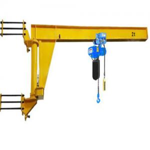 China Mobile Motorised Jib Crane Material Lifting 500kg Movable Wall Mounted on sale