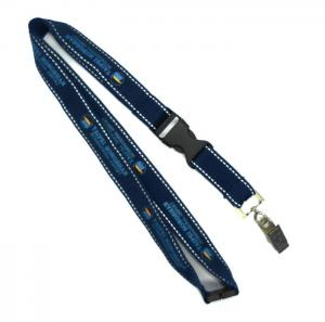 China Polyester Work ID Card Holder Lanyard Neck Strap Reflective With Clip on sale