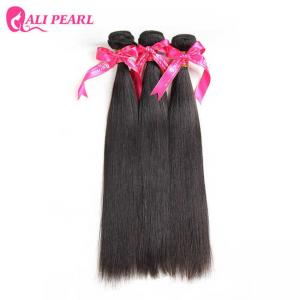 China Straight Virgin Indian Hair 3 Bundle Deals Remy Hair Weave Double Weft on sale