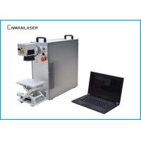High Speed Portable Fiber Laser Marking Systems Max 20w With Aluminum Up Down Platform