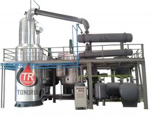 China Industry Synthetic Mineral Oil Refinery Plant For Recycling Black Engine Oil into Golden Base Oil on sale
