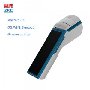 China 5.5 inch Android 6.0 ordering online handheld pos terminal with built-in printer on sale