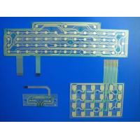 Keyboard Printed Circuit Flexible PCB Board Custom With Metal Dome / LED