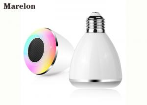 China Colorful Music Bluetooth Speaker Light Lamp Bulb With Custom Logo Printing on sale