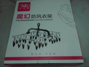 China Multi Function Plastic Clothes Hangers Stainless Steel Air Proof With Clamp on sale