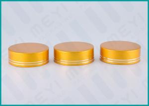 China Matt Gold Lined Aluminum Screw Top Caps 38/410 For Health Care Products Containers on sale
