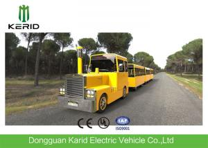 China Metal Structure Mini Trackless Train 62 Seats For Amusement Park Diesel Powered on sale