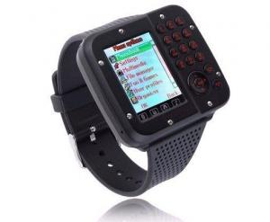 China Popular waterproof Black / Silver / Rose Gold wrist watch phone with MTK 6253 CPU on sale