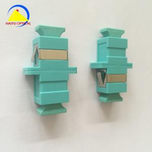 China MM OM4 SC PC Flange Optical Fiber Adaptor Simplex Aqua on sale