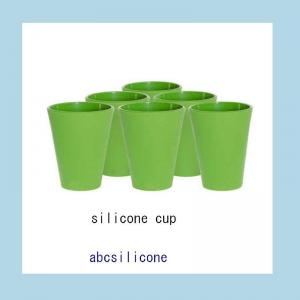 China silicone tableware cup ,promotional silicone drinking cups on sale