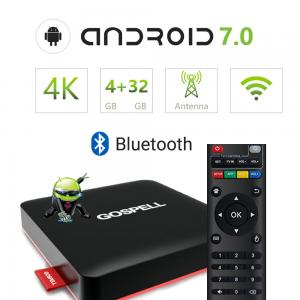 China Android TV OTT Set Top Box H.264/H.265/MPEG-4/MPEG-2/AVS 3D Video Playing on sale