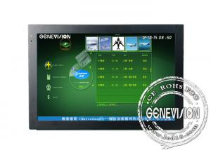 China 24 Inch Touch Screen Digital Signage Support MP4 / MPEG1 / MPG2 on sale