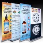 Retractable Banner Stands , advertising aluminum roll up banner stand