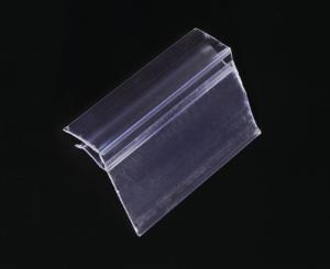 China Transparent Plastic Price Data Strip Label Holder for Shelves , Customized on sale