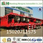 Shengrun Manufacturer Container Cargo Transport Truck Semi 40FT Flatbed Trailer