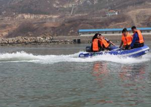 Portable Fishing Boats 300cm PVC , Folding Rib Boat With