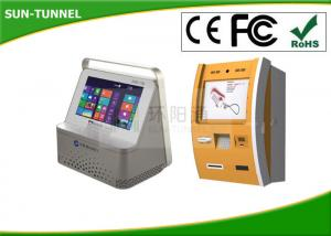 China 7 Inch Touch Screen Bank ATM Machine , Card Reader Wall Mounted Kiosk Self Payment on sale