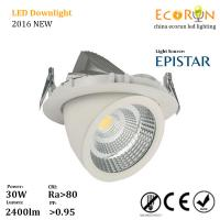 epistar cob warm white 15w 25w 30w led cob gimble downlight with ce rohs saa