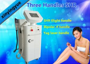 China Multi Function ND YAG SHR Elight IPL Hair Removal Machine with 3 Handles OEM / ODM on sale