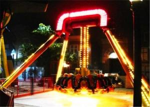 China 60 Degree Cool Theme Park Rides , Customized Seats Small Amusement Rides on sale