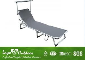 China Alum Tube Adjustable Beach Recliner Chair , Portable Black Sand Beach Chairs Dia. 28 * 1.2mm on sale