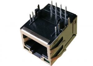 China HFJ11-S114E-L72RL , RJ45 Single Port PCB Mounting Jack In IPTV Set Top Box on sale