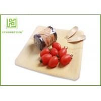 China Healthy Bamboo Sushi Plate , Compostable Bamboo Plates And Bowls With Logo on sale