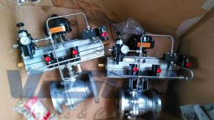 China Quarter Turn  3 Position Pneumatic Actuator For Automated Web Handling Systems on sale