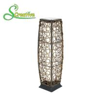 Romantic Outdoor Rattan Solar Garden Lights Floor Lamp With Polysilicon Solar Panel