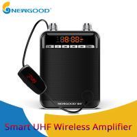 NEWGOOD Black UHF,2.4Ghz High Powerful 9V 50W wireless amplification Loud speakers for school classroom professor