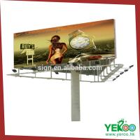 China rotating three sides outdoor advertising billboard on sale