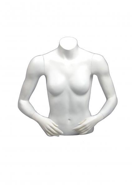 Female Mannequin Torso Arms Bending Pose White Matte Color Jm 4 Images