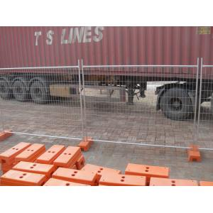 Quality Cheap Temporary Fencing panels same with TEMP FENCE SHOP panels OD 32 x 1.40mm 3.00mm wire diameter and recycle foot for sale