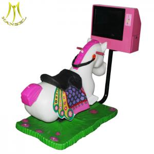 China Hansel shopping mall kids ride machine coin operated electric video horse rides on sale