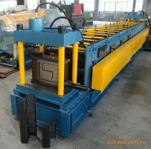 China 18-20Mpa Gcr 15 Z Purlin Roll Forming Machine With 15 Rows Rollers / PLC Vector Inverter on sale