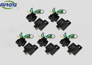 China 5 Pin 24V 40 Amp Micro Relay With Socket Automotive Wiring Harness Kits 5 Pre-wire on sale