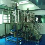 1500L / 2000L Stainless Steel Shampoo Mixer Blending Tanks Cosmetic Making Machines