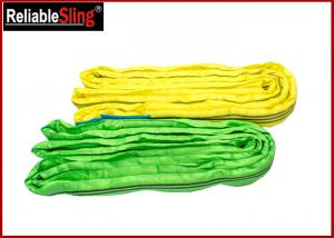 Quality High-Strength Polyester Yarn Color Code Polyester Lifting Slings Endless Cargo Slings for sale