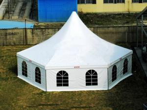 China Hexagonal Aluminum Pagoda Tent Double Pvc Coated Polyester Apply To Exhibition on sale