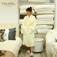 5 Star Luxury Hotel Spa Bathrobes White 100% Cotton Velour For Woman And Man