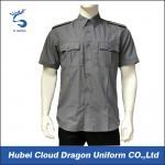 Camisas curtos do agente de segurança da luva, camisas do trabalho dos homens com bolsos funcionais