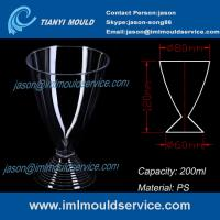 PS 200ml 7oz clear disposable red/white wine glasses /cup mould/plastic martini cup mold