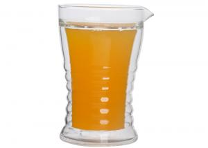 China 210ml Double Wall Borosilicate Glass , Heat Resisting GALSS Beverage Mugs on sale