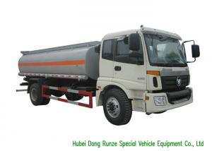 China FOTON AUMAN Fuel Delivery Truck With Stainless Steel Tank PTO Fuel Pump 12CBM on sale
