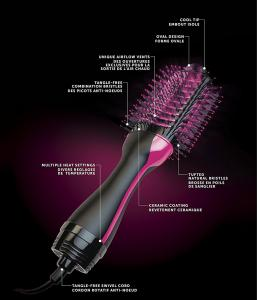 China Meraif hot sale 2 in one Hair straightener Curling iron brush rotating Electric ionic Hair brush on sale