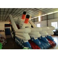 China Commercial Inflatable Titanic Dry beauty slide hot inflatable dry ship slide on sale