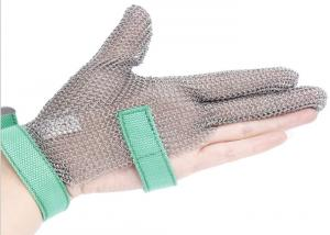 China Butcher Anti Cutting Stainless Steel Gloves With Metal Plates , High Strength on sale