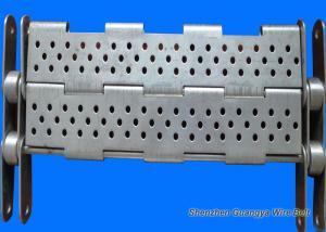 China Punching Chain Plate Conveyor , Customized Design Steel Plate Conveyor on sale